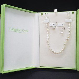 Gem of a Pearl Necklace & Earring Set Imitation